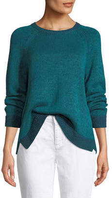 Eileen Fisher Organic Linen/Cotton Slub Sweater