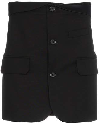 Helmut Lang button down fold-over mini skirt