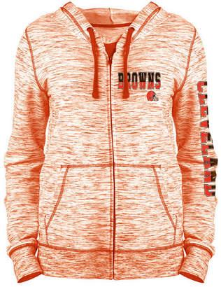 5th & Ocean Women's Cleveland Browns Space Dye Full-Zip Hoodie