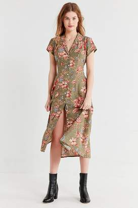 Urban Renewal Vintage Remnants Floral Button-Down Midi Dress