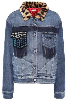 Miu Miu Embellished denim jacket