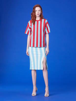 Diane von Furstenberg Sweater Striped Midi Skirt