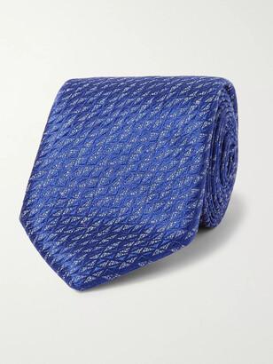 Charvet 7.5cm Silk And Linen-Blend Jacquard Tie