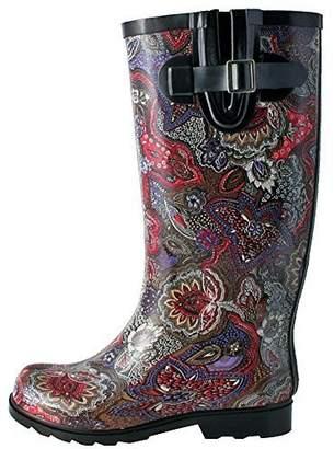 NOMAD Women's Puddles Paisley Rubber Rain Boot