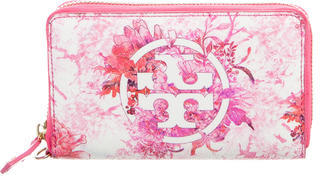 Tory Burch Tory Burch Floral Print Compact Wallet
