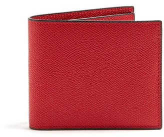 Valextra Bi Fold Leather Wallet - Mens - Red