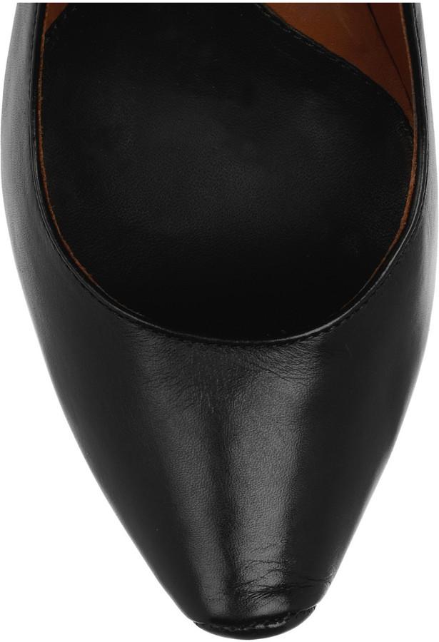 McQ Burlesque leather pumps
