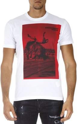 DSQUARED2 Dsq2 Dance White Cotton T-shirt
