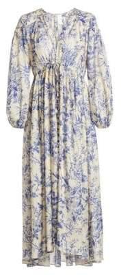 Zimmermann Verity Floral Silk Midi Dress