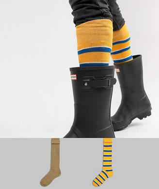 Asos DESIGN Festival Welly Socks In Retro Stripe Design 2 Pack
