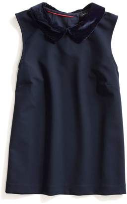 Tommy Hilfiger Velvet Collar Sleeveless Top