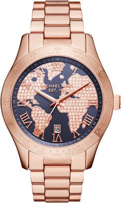 Michael Kors Women's Layton Rose Gold-Tone Stainless Steel Bracelet Watch 44mm MK6395 $275 thestylecure.com