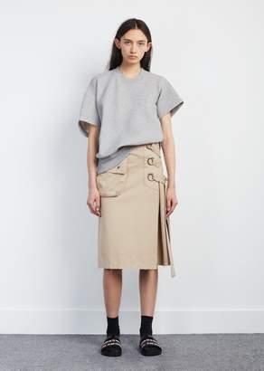 Sacai Cotton Twill Skirt Beige