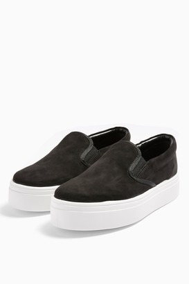 Topshop CONGO Black Slip On Shoes