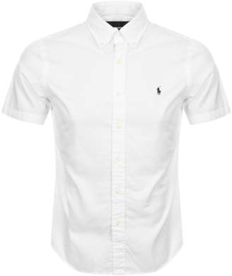 Ralph Lauren Short Sleeved Slim Fit Shirt White