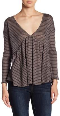Lucky Brand Striped Strappy Linen Tee