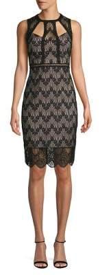 GUESS Cut-Out Lace Sheath Dress