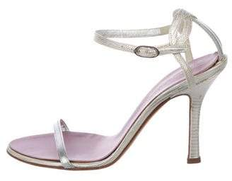 DSQUARED2 Embossed Ankle-Strap Sandals