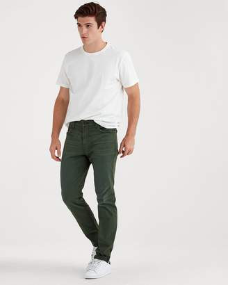 7 For All Mankind Total Twill Adrien Slim Tapered with Clean Pocket in Military Olive