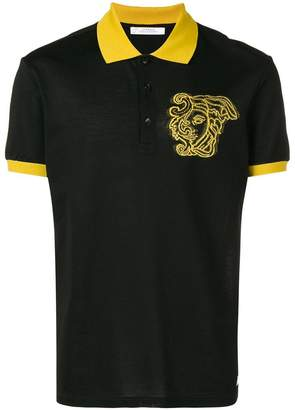 Versace logo printed polo shirt