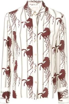 Chloé horse-print shirt