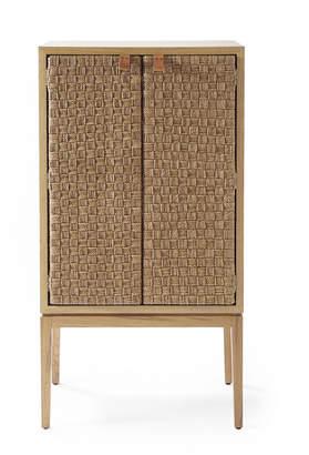 Serena & Lily Caledonia Woven Bar Cabinet