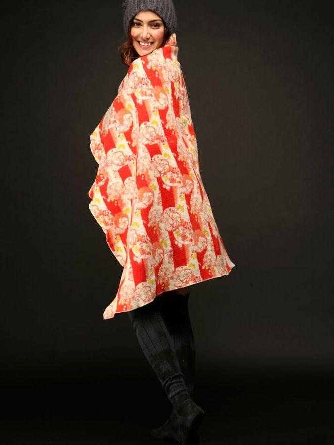 Pucker Kimono Throw