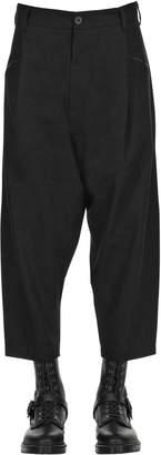 Isabel Benenato Cropped Linen & Virgin Wool Pants