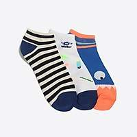 J.Crew Factory Boys' surf monster ankle socks three-pack