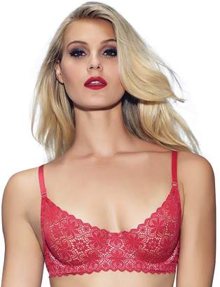 Jezebel Bra: Lulu Unlined Crochet Lace Demi Bra 11044