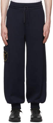 Alexander McQueen Navy Side Patch Jogger Lounge Pants