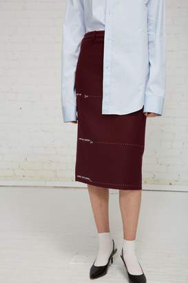 Vetements Milanese Skirt With Lengths Embroidered