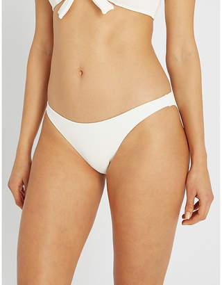 Solid & Striped Fiona low-rise high-leg ribbed bikini bottoms