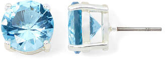 MONET JEWELRY Monet Silver-Tone Blue Crystal Stud Earrings
