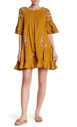 Free People Pavlo Floral Embroidery Dress