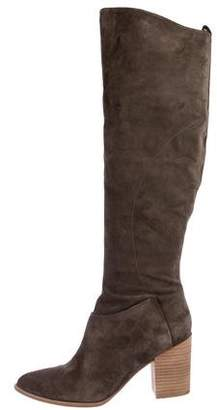 Sigerson Morrison Suede Pointed-Toe Knee-High Boots