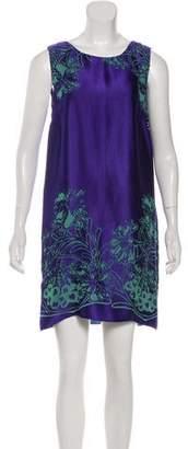 Anna Sui Floral Mini Dress