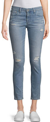 AG Jeans Distressed Ankle Jeans