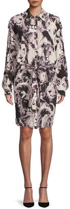 Roberto Cavalli Women's Printed Silk Shirtdress