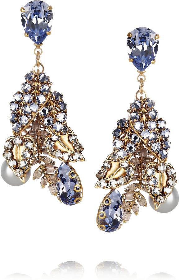 Swarovski Bijoux Heart Fifi gold-plated crystal earrings