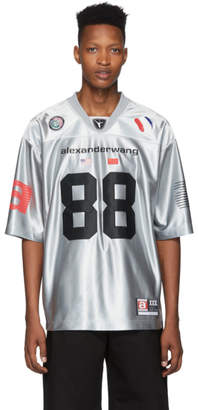 Alexander Wang Silver High Shine Football Jersey