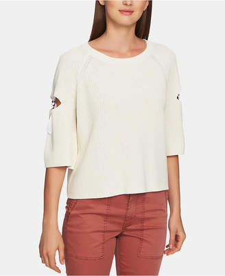 1 STATE 1.state Cotton Cutout Hardware Sweater