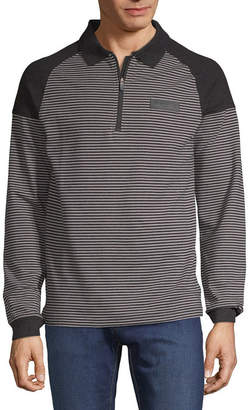 U.S. Polo Assn. USPA Long Sleeve Stripe Pique Polo Shirt Slim