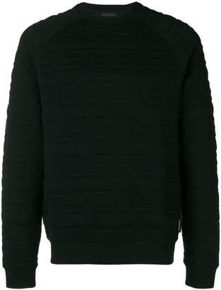 Emporio Armani quilted eagle logo sweatshirt