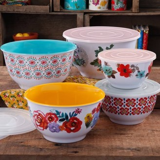 THE PIONEER WOMAN The Pioneer Woman Country Garden Nesting Mixing Bowl Set, 10-Piece, Multiple Patterns