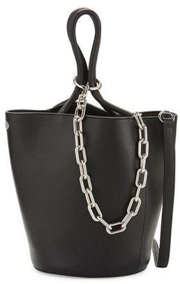 Alexander Wang Roxy Large Leather Tote Bag, Black $595 thestylecure.com