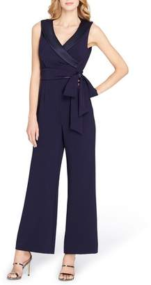 Tahari Portrait Collar Jumpsuit