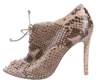 Alexandre Birman Python Ankle Boots