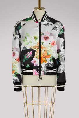 Off-White Off White Floral bomber jacket