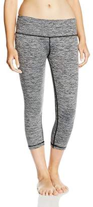Skiny Women's Yoga & Relax Leggings 3/4 Pyjama Bottoms, (Black Grey Melange 5781), (Size: 38)